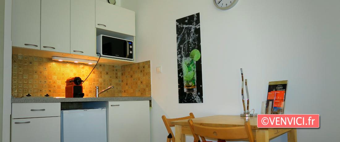 VENVICI.FR Logement airbnb hyperCentre Strasbourg coin cuisine